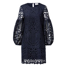 Lace Full Sleeve Dress  INK  hi-res