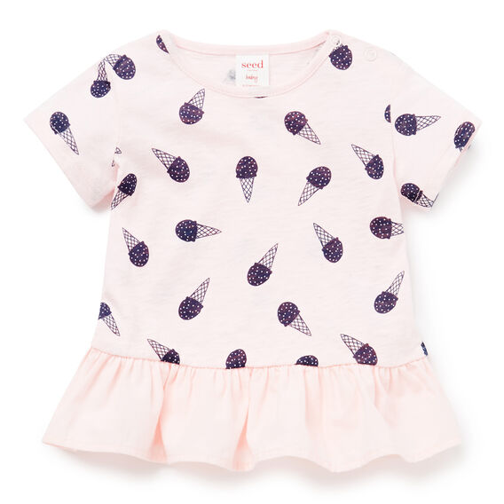 Ice-Cream Peplum Tee  ICE PINK  hi-res