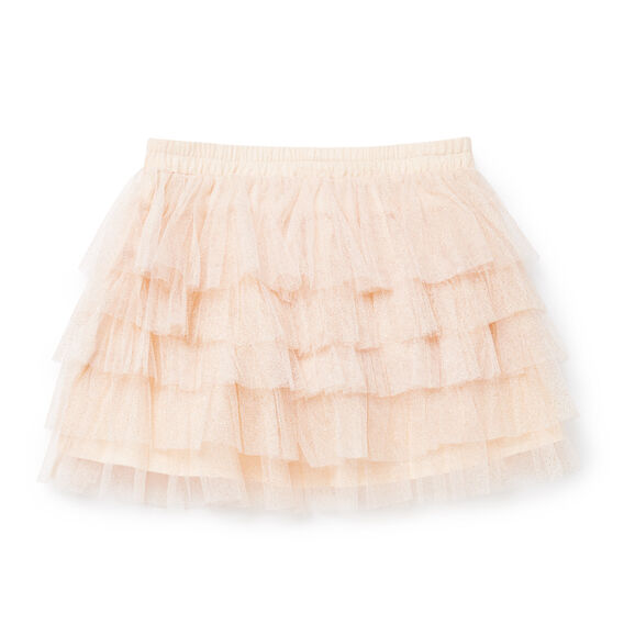 Tiered Tulle Skirt  PEACH BLOSSOM  hi-res