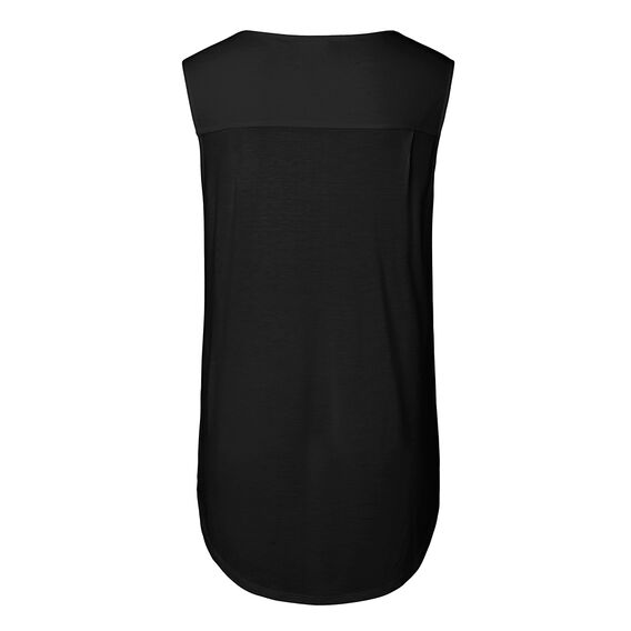 Sleeveless Wrap Tee  BLACK  hi-res