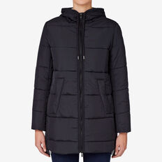 Jersey Lined Puffer  INK BLUE  hi-res