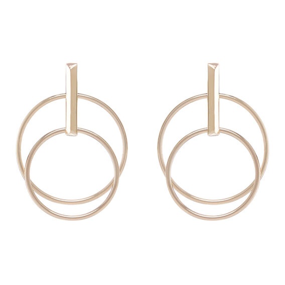 Double Hoop Earring  GOLD  hi-res