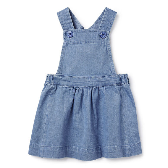 Denim Pinafore  CHAMBRAY  hi-res