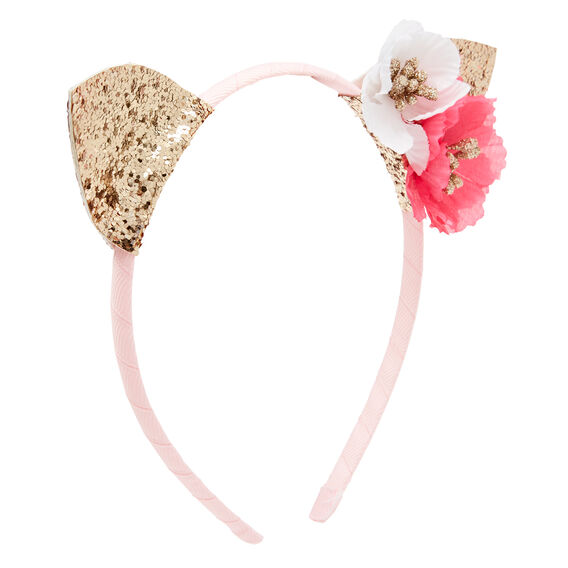 Flower Cat Ears Headband  MULTI  hi-res