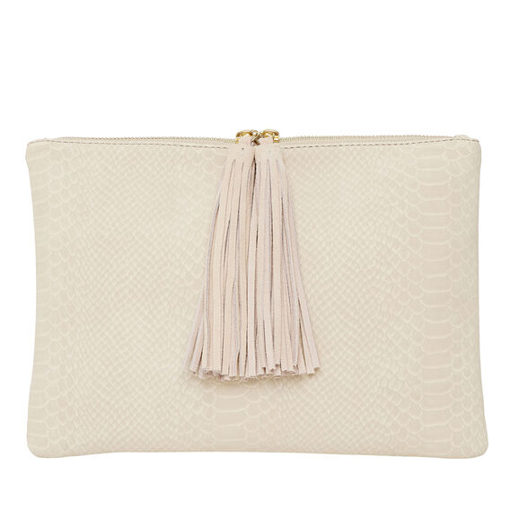 Aries Tassel Clutch  TAUPE  hi-res