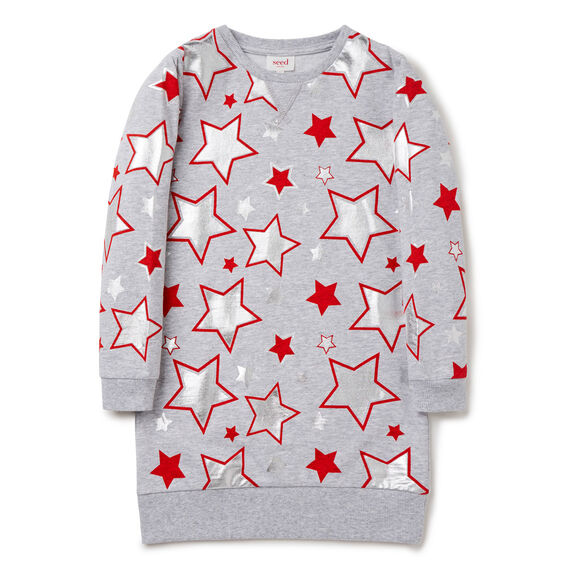 Star Sweater Dress  APPLE RED  hi-res