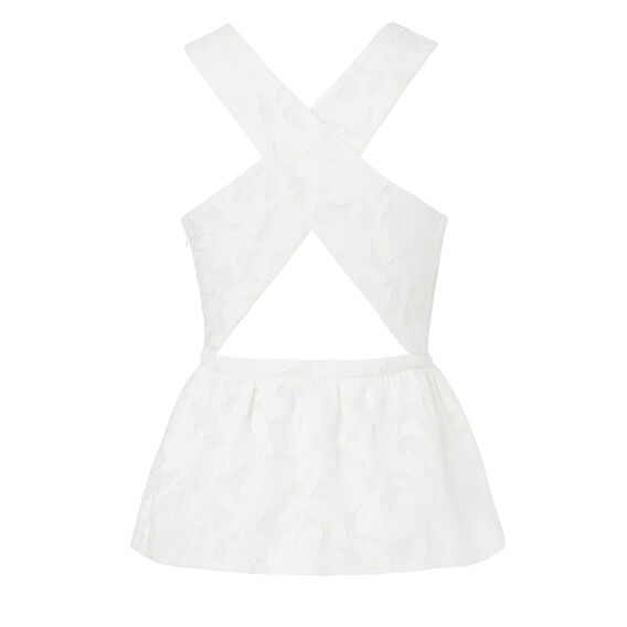 Collection Lace Peplum Top  WHITE  hi-res