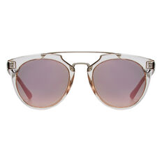 Jo Round Metal Trim Sunglasses  CLEAR  hi-res