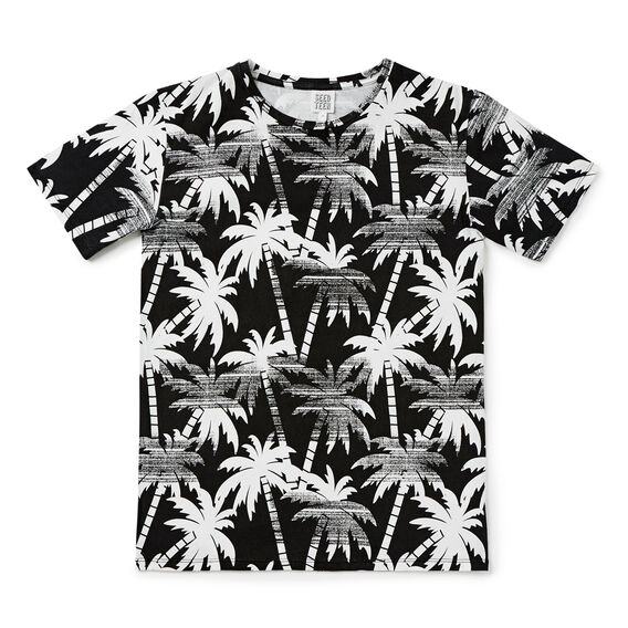 Palm Tee  WASHED BLACK  hi-res