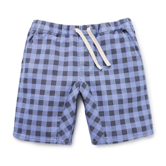 Printed Check Short  WASHED BLACK  hi-res