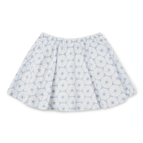 Broderie Skirt  BLUE LAGOON  hi-res