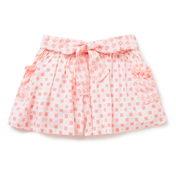 Splice Print Shorts  FUZZY PEACH  hi-res