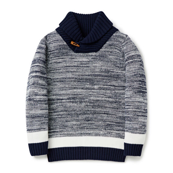 Shawl Neck Sweater  MIDNIGHT BLUE  hi-res