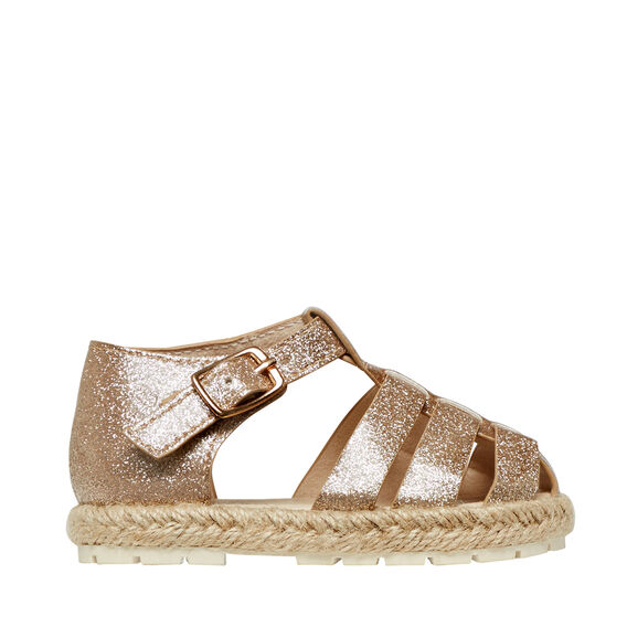 Glitter Caged Sandal  GOLD  hi-res