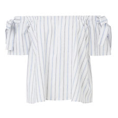 Tie Off Shoulder Stripe Top  STRIPE  hi-res