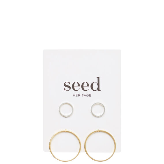 Round Stud Set  SILVER/GOLD  hi-res