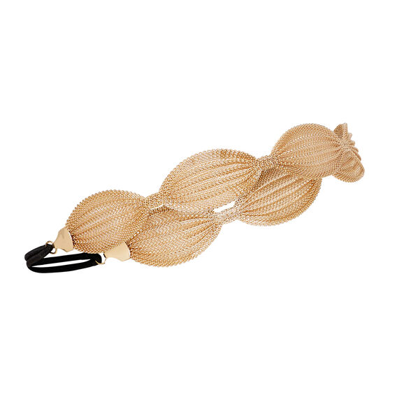 Mesh Elastic Headband  GOLD  hi-res