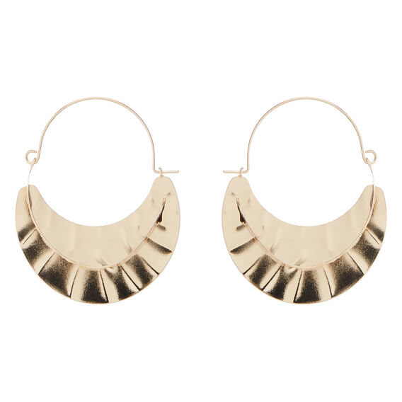 Textured Fashion Earring  GOLD  hi-res