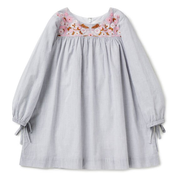 Embroidered Dress  CEMENT GREY  hi-res