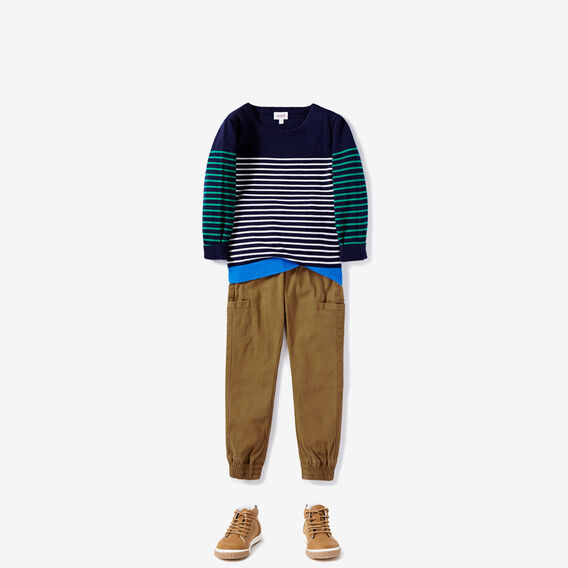 Stripe Crew Knit  MIDNIGHT BLUE  hi-res