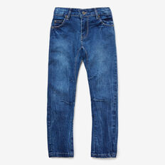Carrot Leg Jean  MID WASH  hi-res