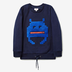 Zip Motif Sweater  MIDNIGHT BLUE  hi-res