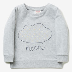 Embroidered Cloud Windcheater  CLOUD  hi-res