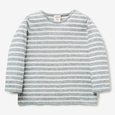 Stripe Tee  SEA FOG MARLE  hi-res