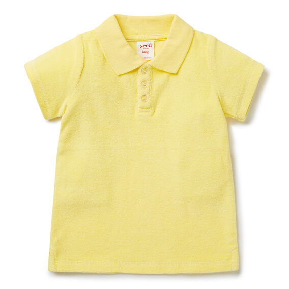 Terry Toweling SS Polo  BANANA YELLOW  hi-res