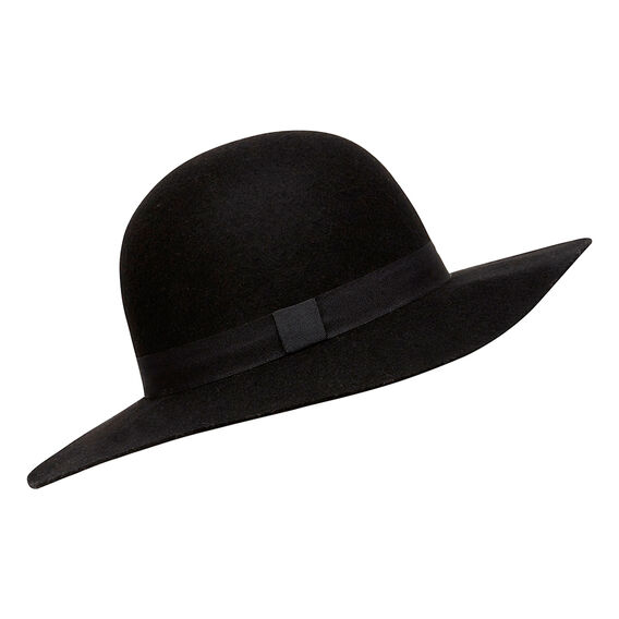 Felt Floppy Hat  BLACK  hi-res