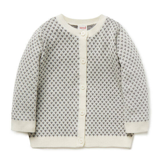 Birds Eye Knit Cardigan  NB CANVAS  hi-res