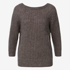 Luxe Knit Jumper  CHARCOAL MARLE  hi-res