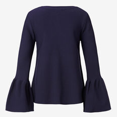 Bell Sleeve Flared Knit Top  INK  hi-res