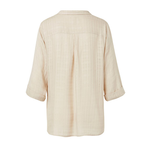Textured Wrap Shirt  NATURAL  hi-res
