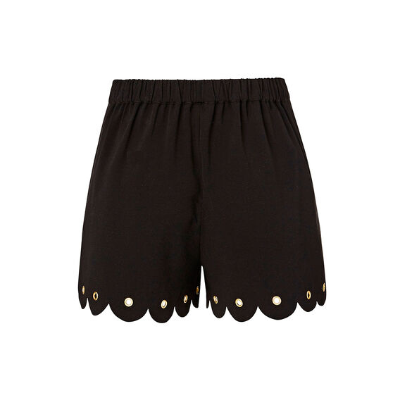 Collection Eyelet Hem Short  BLACK  hi-res