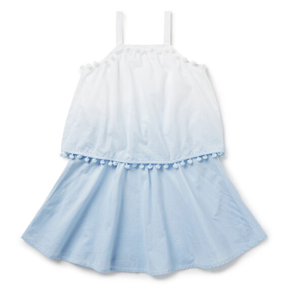 Dip-Dye Pom Pom Dress  BLUE LAGOON  hi-res