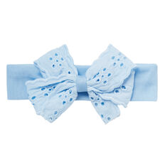 Broderie Bow Headband  PALACE BLUE  hi-res