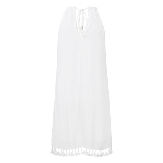 Layered Tassel Dress  WHITE  hi-res