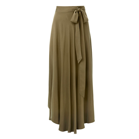 Olive Wrap Skirt  SUMMER OLIVE  hi-res
