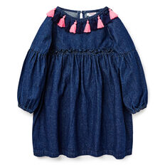 Denim Smock Dress  INDIGO  hi-res