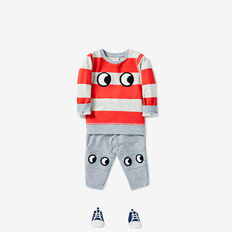 Big Eyes Harem Trackie  CEMENT MARLE  hi-res
