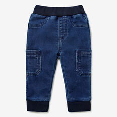 Denim Terry Pocket Jean  NAVY WASH  hi-res