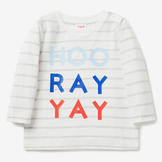 Yay Stripe Tee  VINTAGE WHITE  hi-res