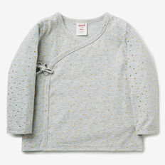 Gold Spot Wrap Cardigan  FOG GREY MARLE  hi-res