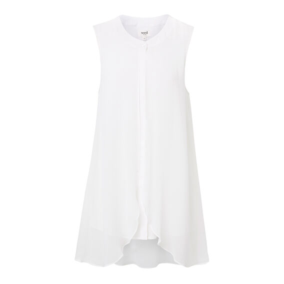 Collection Layered Silk Shirt  WHITE  hi-res