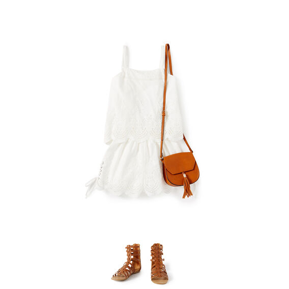 Broderie Playsuit  WHITE  hi-res