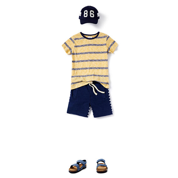 Fine Stripe Tee  LION YELLOW  hi-res