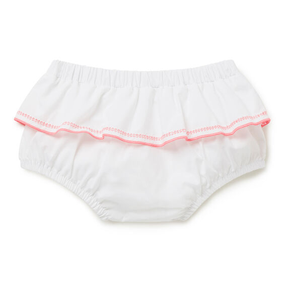 Pop Trim Frill Bloomer  WHITE  hi-res