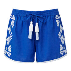 Embroidered Short  COBALT  hi-res