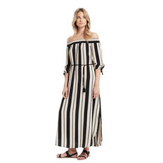 Genie Off Shoulder Maxi  STRIPE  hi-res